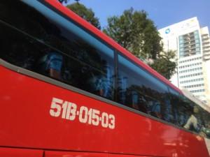 ラオスへ行くターゲットのバス同乗調査